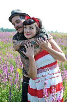 Keep rockabillin'! Sweet engagement photo