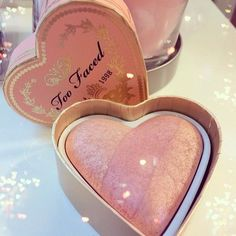 girly girl dollface too faced sweet heart blusher cake makeup pastel pink .。.:*❤