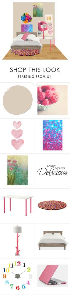 """""""Bedroom 2"""" by deeda-ferreira ❤ liked on Polyvore featuring DwellStudio, Shabby Chic, WALL, Universal Lighting and Decor, HAY, Stray Dog Designs, Karlsson, Speck and bedroom"""