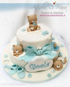 1 million+ Stunning Free Images to Use Anywhere Torta Baby Shower, Baby Shower Cakes For Boys, Pretty Cakes, Beautiful Cakes, Teddy Bear Cakes, Friends Cake, Shower Bebe, Cake Tutorial, Love Cake