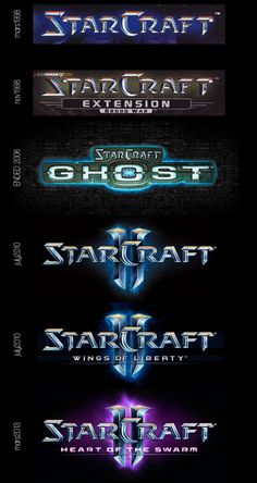Starcraft- Logo evolution