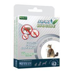 MAX BIOCIDE Antiparazitný obojok pre mačky - 42 cm