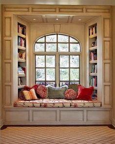 Creative Window Seat Ideas beautiful comfy looking little reading spot :)