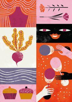 Art And Illustration, Illustration Inspiration, Illustrations Posters, Animal Illustrations, Art Drawings Beautiful, Guache, Arte Floral, Motion Design, Art Studios