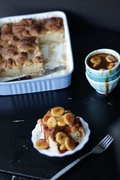 Bananas Foster Croissant Bread Pudding
