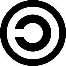 Copyleft symbol is used in opposition to copyright to indicate that a software remains freely avaidable