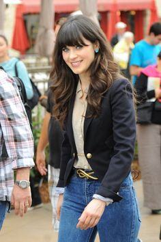 At times (like now) when I just want to chop my hair into a bob, think of Zooey Deschanel hair!