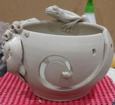 Sculpting yarn bowls  by hopnfrogpottery
