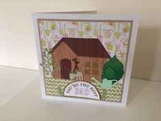 Father's day handmade shed card