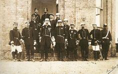 Fotografia que mostra o Conde D'Eu jundo de Deodoro da Fonseca no período da Guerra do Paraguai