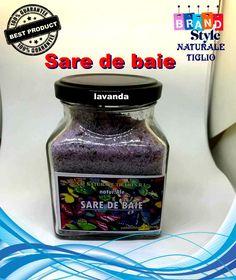 Sare de baie lavanda Fashion Branding, Drink Bottles, Drinks, Food, Style, Lavender, Drinking, Swag, Beverages