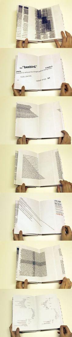 355_bourgoisbenjamin_référent_cour1_rythme La disposition des blocs de texte qui se superposent ou sont disposés en oblique crée du rythme.: