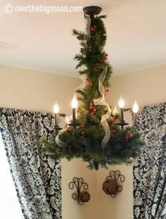 Christmas Decor for hanging dining room light.