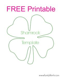 Free Shamrock Printable - for super fun shamrock crafts for kids! Our Knight Life #FreePrintable