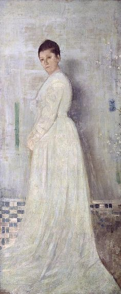 James Abbott McNeill Whistler |Harmony in white and blue