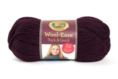 Wool-Ease Thick & Quick at Lion Brand Yarn in Eggplant Baby Beanie Crochet Pattern, Crochet Bear, Crochet Baby Booties, Crochet Blanket Patterns, Baby Blanket Crochet, Free Crochet, Crochet Stitch, Crochet Hats, Lion Brand Wool Ease
