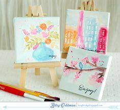Mini canvas by Betsy Veldman using PTI