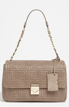 Versace 'Couture' Leather Flap Shoulder Bag available at Bloomingdale's.