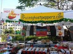 Hsppy St. Patty's Day w/ brucesghostpepperz.com at the downtown West Palm Beach GreenMarket, March 2015.