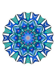 One Of My Mandalas Colored