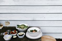 At home al fresco. Fresh salads and sides on Royal Doulton 1815 collection