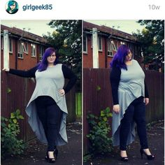 I met @girlgeek85 at the plus size awards and she is wonderful! #psbloggersinstagramadvent Go check her out by leahxl