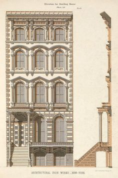 Design for the facade of a residence, New York City