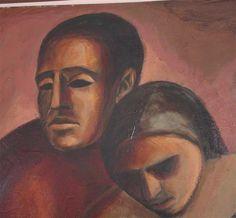 Arnold Belkin | Arnold Belkin large oil painting on board at 1stdibs