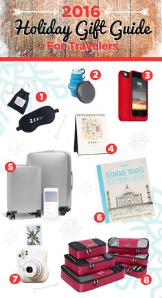 Get some holiday shopping inspiration with this list of gifts that will definitely impress the jet-setter or adventure-seeker in your life! http://khmtravel.com/blog/2016-holiday-gift-guide-for-travelers #giftguide #travelgifts #holidaygifts #travelagents