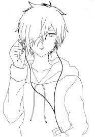 Resultado de imagem para Linearts anime boy