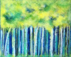 """Saatchi Art Artist Drew Noel Marin; Painting, """"Birches of Energy"""" #art"""