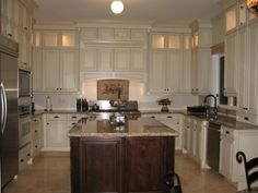 Kitchen ideas on pinterest antique white cabinets for Canac kitchens kitchen cabinets