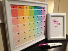 Emma Courtney: Paint Chip Calendar
