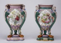Hand Decorated Porcelain Urns