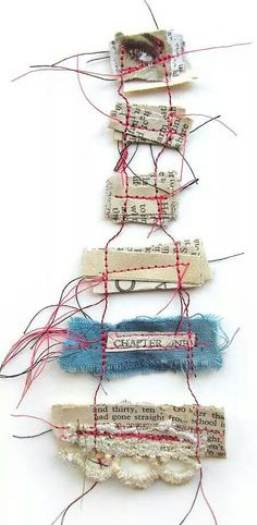 'Memory Threads' by Emma Parker of Stitch Therapy Collect your memories carefully; fold them up and bind them together with a strong thread; lest we forget the fragile beauty; hidden in today's moment.