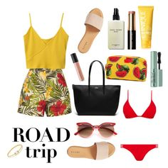 """""""🌴"""" by ivana-trejo ❤ liked on Polyvore featuring Miguelina, Hinge, Bobbi Brown Cosmetics, Lacoste, Melissa Odabash, Clinique, Anissa Kermiche, Dolce&Gabbana, Too Faced Cosmetics and Bare Escentuals"""
