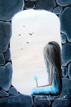 The Secret Window FINE ART PRINT Girl In Castle by Shawna Erback Dreamscapes
