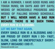 "Exactly!  I am so grateful I am able to run again after injuries I believed (at the time/through time) would be my undoing.  BUT with belief and determination and the ""all knowing"" knowing more than me....I am running again!  So very thankful!"