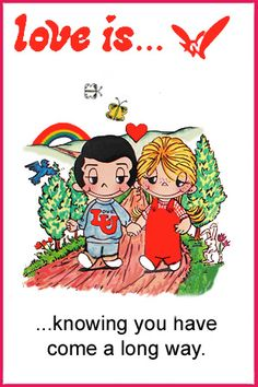 love is... coming a long way. love is... comics kim casali