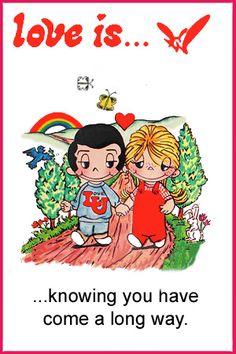 love is... coming a long way.  love is... comics kim casali