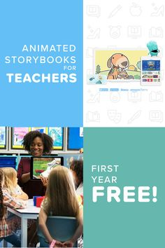 The streaming service for kids books is here and for a limited time, we are offering a FREE YEAR of Vooks* exclusively to all school teachers and homeschool educators! Get started today! School Fun, School Teacher, Primary School, School Stuff, Indoor Activities For Kids, Book Activities, Coding For Kids, Educational Websites, Education English