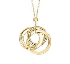 Tiffany & Co. | Item | Tiffany 1837™ interlocking circles pendant in 18k gold, small. | United States