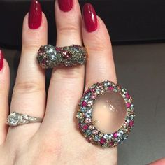 """These @brumanijewelry rings are utterly to-die-for. #VICENZAORO"""