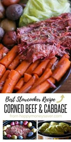 This homemade corned beef and cabbage recipe is so easy to make and the flavor is amazing. Recipe uses simple ingredients and is cooked in the crock pot! dinner corned beef crockpot Homemade Corned Beef and Cabbage {Crock Pot Recipe} Corned Beef Brisket, Cooking Corned Beef, Slow Cooker Corned Beef, Corned Beef Recipes, Crock Pot Slow Cooker, Crock Pot Cooking, Cooking Recipes, Recipes With Beef Roast, Easy Cooking