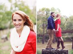 Love their red white and blue attire! View more from this Nashville wedding engagement session by @frozenexposure with a sweet fall theme! | The Pink Bride www.thepinkbride.com
