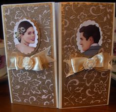 Box Gate-fold easel card for wedding