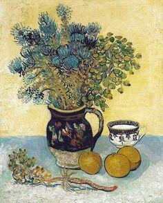 Vincent Van Gogh - Majolica Jug with Wild Flowers