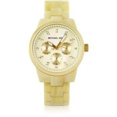 Michael Kors nude ritz horn watch glitz This watch is so classy and stunning! Has some scratches on the back. Needs new battery! I can get the battery replaced for $15 more dollars. $225 watch for a fraction of the price final price!!! Michael Kors Accessories Watches