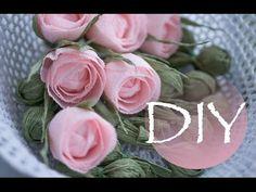 Очень простой способ сделать розы из бумаги DIY Tsvoric к 1 сентября - YouTube