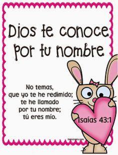 Dios te conoce por tu nombre no temas, que yo te he redimido; te he llamado por tu nombre; tu eres mío.  Is 43.1